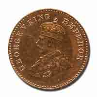 British India King George V 1/12 Anna Coin 1923 Calcutta