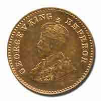 British India King George V 1/12 Anna Coin 1929 Calcutta