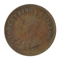 British india King George V - 1/2 Pice Coin 1912 calcutta