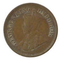 British india King George V - 1/2 pice Coin 1917 calcutta