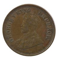 British india King George V - 1/2 pice Coin 1923 calcutta