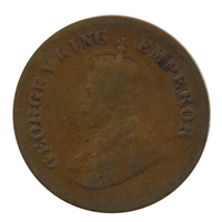 British india King George V - 1/2 pice Coin 1931 calcutta