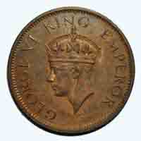 British India King George VI Quarter Anna 1942 Calcutta