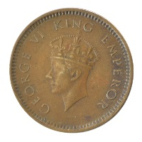British India King George VI - 1/2 Pice 1939 Calcutta