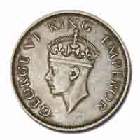 British India King George VI Quarter Anna 1939 Calcutta