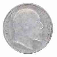 British India King Edward VII One Rupee 1903 Bombay