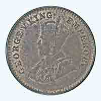 British India King George V 1/12 Anna Coin 1928 Mumbai