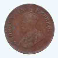 British India King George V 1/12 Anna Coin 1936 Mumbai