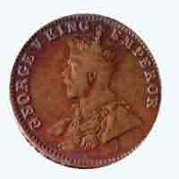 British India King George V Quarter Anna Coin 1930 Mumbai
