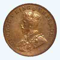 British India King George V Quarter Anna Coin 1936 Mumbai