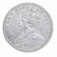 British India King George V One Rupee Coin 1913 Bombay