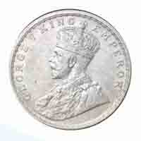 British India King George V One Rupee 1914 Bombay