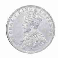 British India King George V One Rupee Coin 1917 Bombay