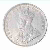 British India King George V One Rupee 1918 Bombay