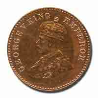 British India King George V 1/12 Anna Coin 1923 Bombay