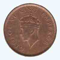 British India King George VI Quarter Anna 1939 Mumbai