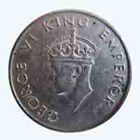 British India King George VI Half Rupee 1947 Mumbai