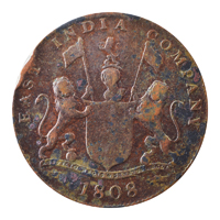 East India Company 20 Cash Coin