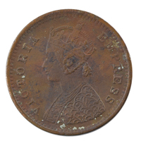 British India Victoria Empress - 1/12 Anna Coin 1887 Calcutta
