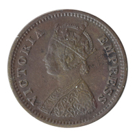 British India Victoria Empress - 1/12 Anna Coin 1887 Bombay