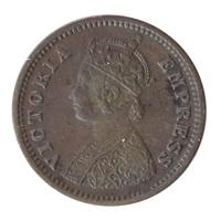 British India Victoria Empress - 1/12 Anna Coin 1887 Bombay