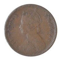 British India Victoria Empress - 1/12 Anna Coin 1889 Calcutta