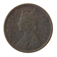 British India Victoria Empress - 1/12 Anna Coin 1890 Calcutta
