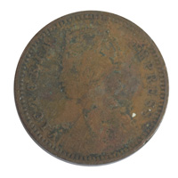 British India Victoria Empress - 1/12 Anna Coin 1891 calcutta