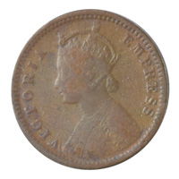 British India Victoria Empress - 1/12 Anna Coin 1892 calcutta