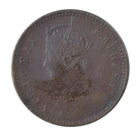 British India Victoria Empress - 1/12 Anna Coin 1897 calcutta