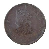 British India Victoria Empress - 1/12 Anna Coin 1897 calcutta