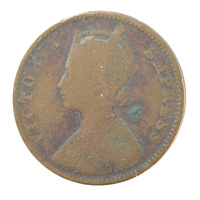 British India Victoria Empress - Quarter Anna Coin 1884 calcutta