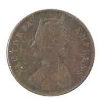 British India Victoria Empress - Quarter Anna Coin 1893 calcutta