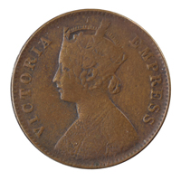 British India Victoria Empress - Quarter Anna Coin 1901 calcutta