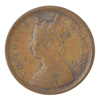 British India Victoria Empress - 1/2 Pice 1893 calcutta