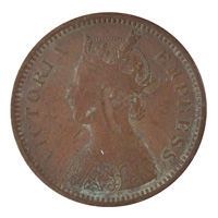British India Victoria Empress - 1/2 Pice Coin 1894 calcutta