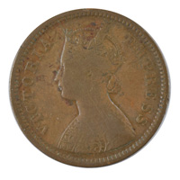 British India Victoria Empress - 1/2 Pice Coin 1895 calcutta
