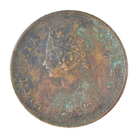 British India Victoria Queen - 1/12 Anna Coin 1862 Madras