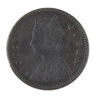 British India Victoria Queen - 1/12 Anna Coin 1876 Calcutta