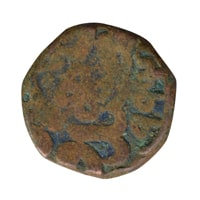 Mughal Dynasty Coin of Jalaluddin Muhammad Akbar - Copper Dam - Ajmer Mint 994 AH
