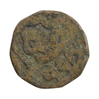 Mughal Dynasty Coin of Jalaluddin Muhammad Akbar - Copper Dam - Ajmer Mint 998 AH