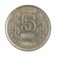 Republic India -5 Rupees Rare Coin