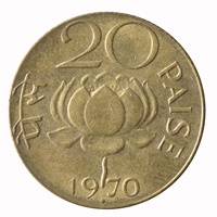 Republic India -20 Paise 1970 Mumbai