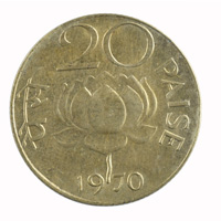 Republic India -20 Paise 1970 Calcutta