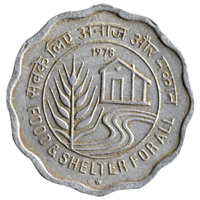 Republic India 10 Paise 1978 Food And Shelter For All Commemorative Coin