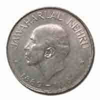 Jawaharlal Nehru 1 Rupee Commemorative Coin - Republic of India