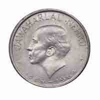 Republic of India - Jawaharlal Nehru - Commemorative 50 paisa coin