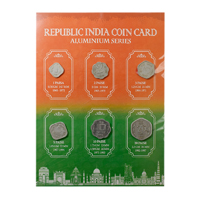 Republic India Coin Card- New (Aluminum)