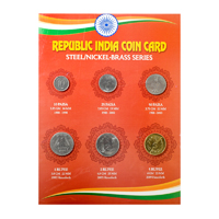 Republic India Coin Card- New (Steel-nickel brass)