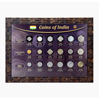 Republic India Coin Set with Frame - Aluminium, Copper-Nickel and Steel Coin series